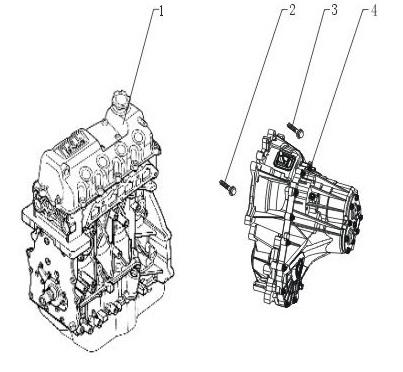 Запчасти для автомобиля Lifan. Двигатель с коробкой передач.